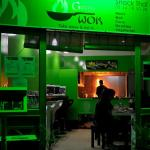 Green wok, Asian food