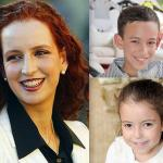 Princess Lalla Salma and her children in Jemaa El Fna
