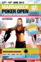 Marrakech Poker Open, Summer Edition 2013